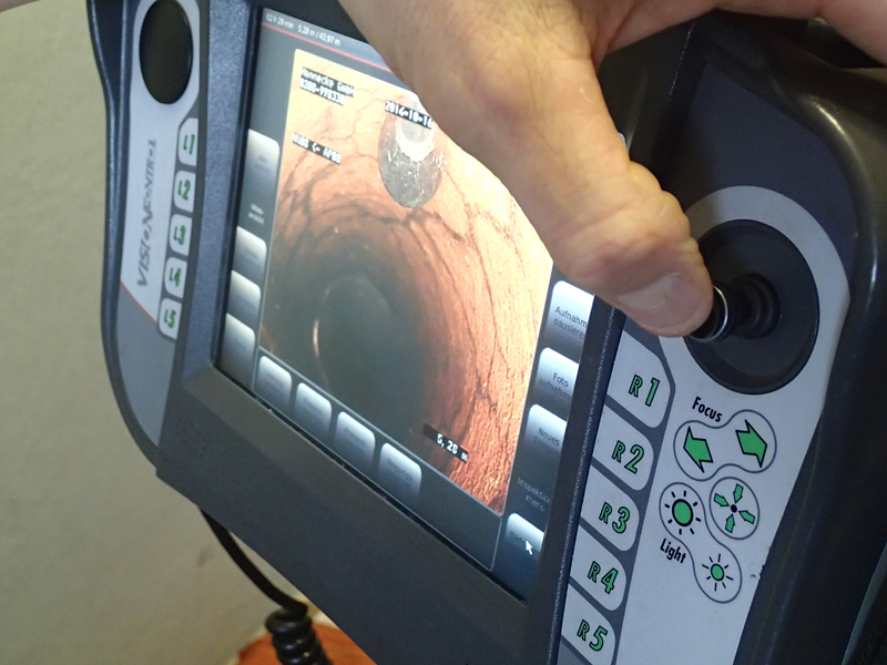 Rohrreinigung mit der Kamera